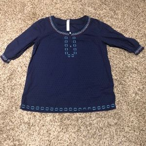 Cherokee Girl's 3/4 sleeve blouse